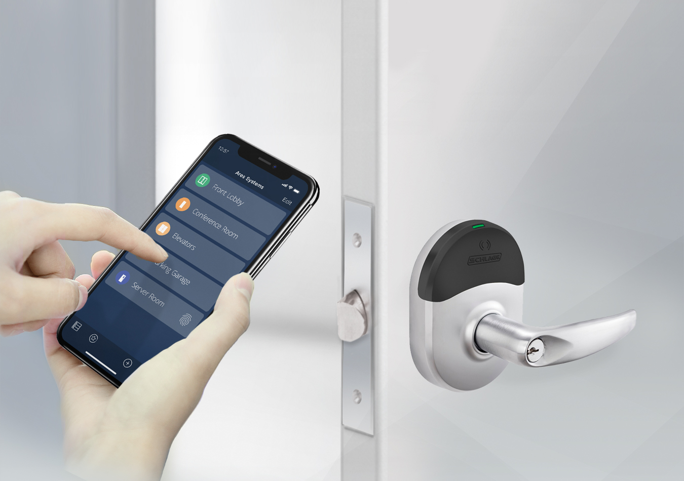 Brivo Lifestyle Image - Mobile Pass+Wireless Locks